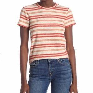 MADEWELL Striped Knit Shrunken T-Shirt Small NWT